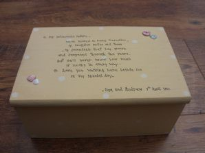 Shabby Personalised Chic Jewellery Bridesmaid / Maid or Honour / flower girl Box